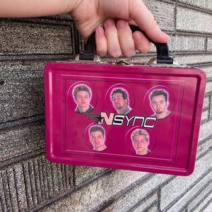 Vintage 90s *NSYNC boy band metal lunch box bag
